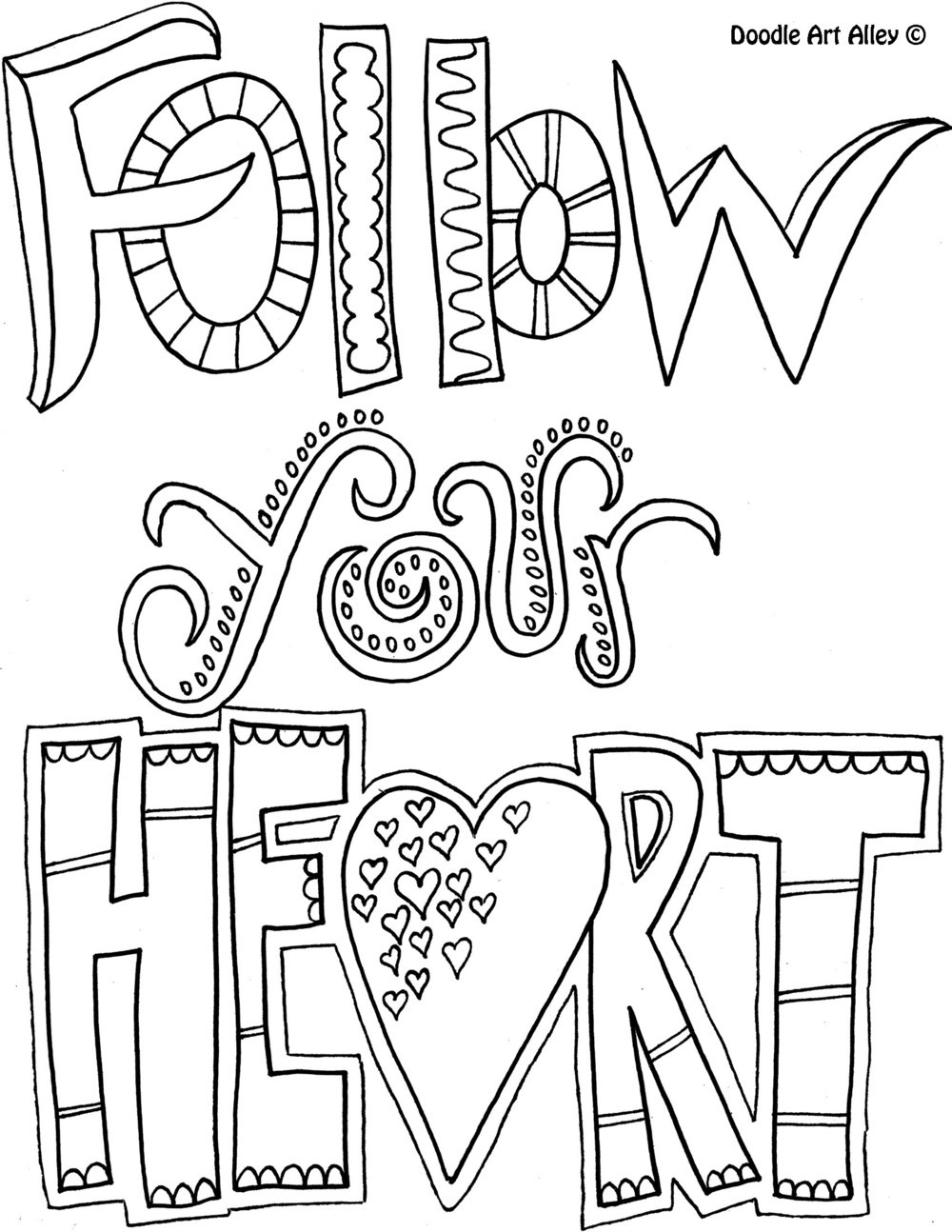 Quote Coloring Pages For Adults  Be e a Coloring book Enthusiast with Doodle Art Alley