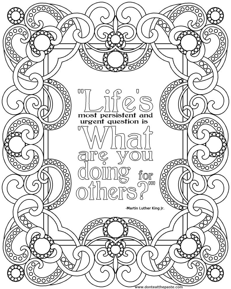 Quote Coloring Pages For Adults  Inspirational Quotes Coloring Pages QuotesGram