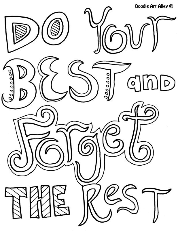 Quotes Coloring Book  Inspirational Quotes Coloring Pages QuotesGram