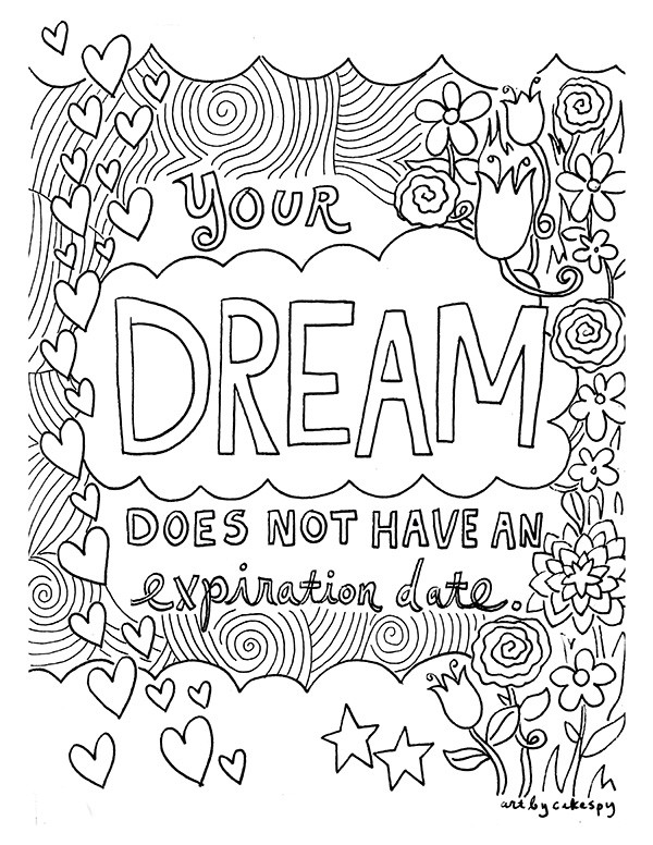 Quotes Coloring Book  FREE Coloring Book Pages for Grown Ups Inspiring Quotes