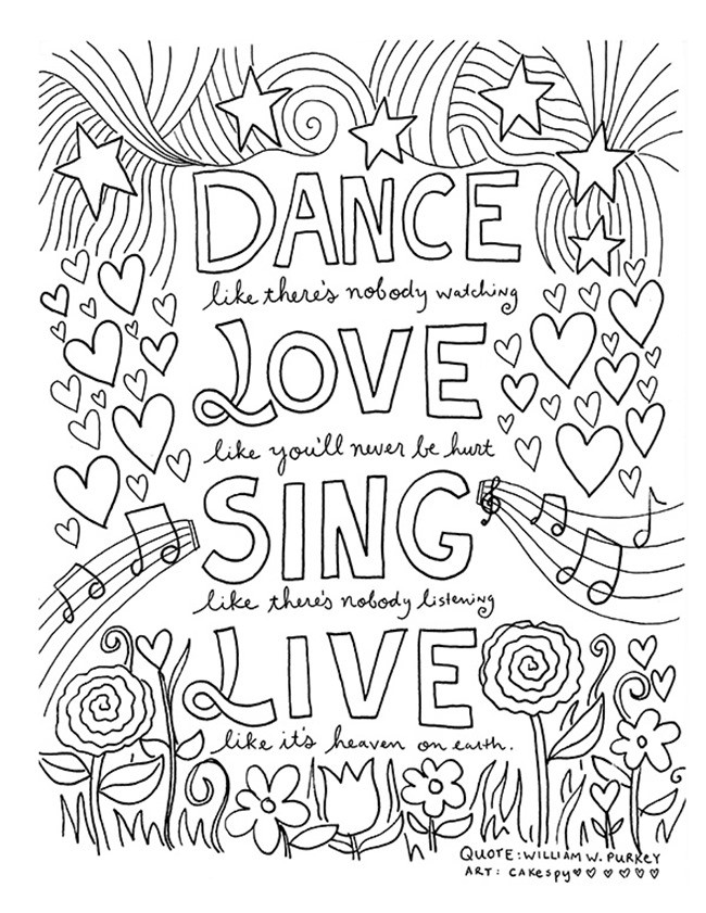 Quotes Coloring Book  12 Inspiring Quote Coloring Pages for Adults–Free Printables