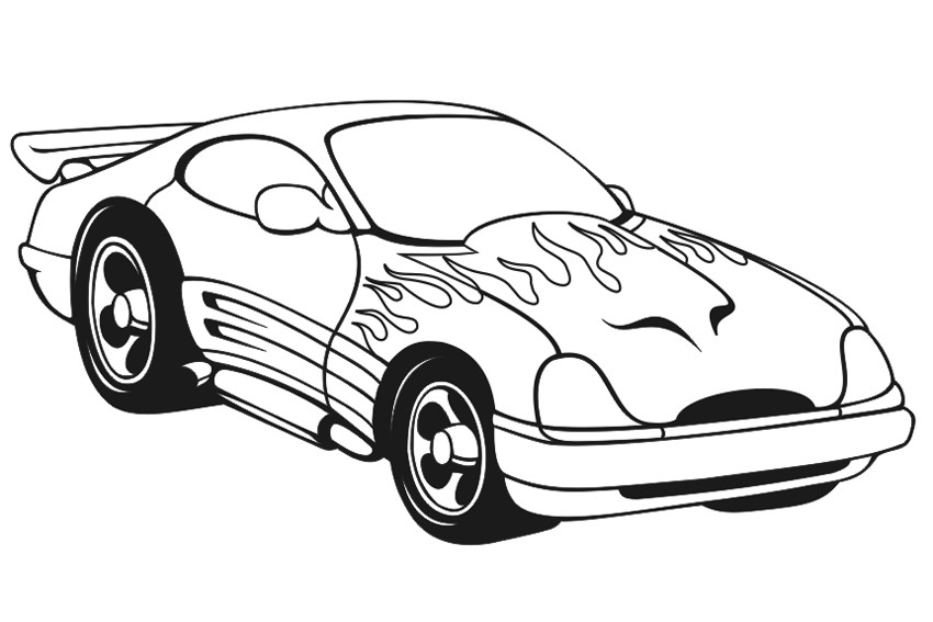 Race Car Coloring Pages For Kids  Racing Car Coloring Pages coloringkids
