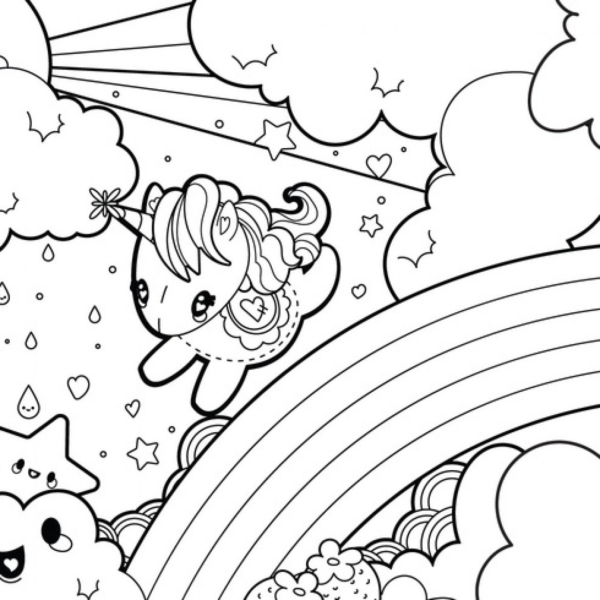 Rainbow Coloring Pages For Adults  37 Best and Free Printable Unicorn Coloring Pages
