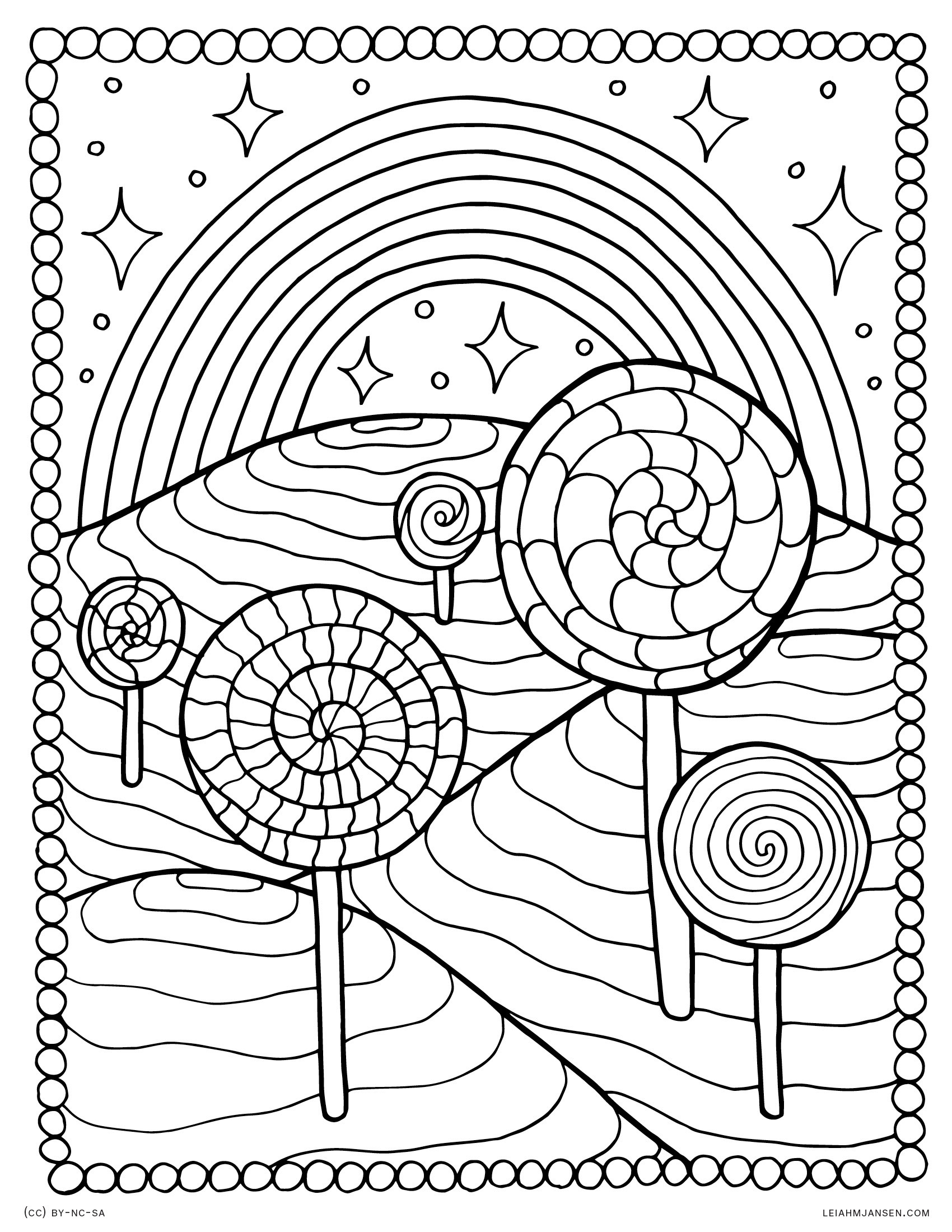 Rainbow Coloring Pages For Adults  Coloring Pages
