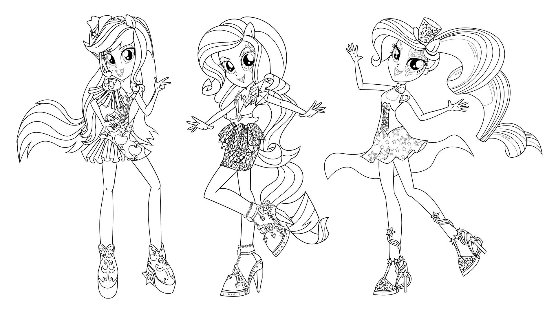 Rainbow Rock Coloring Pages  Equestria Girls Rainbow Rocks Coloring Pages