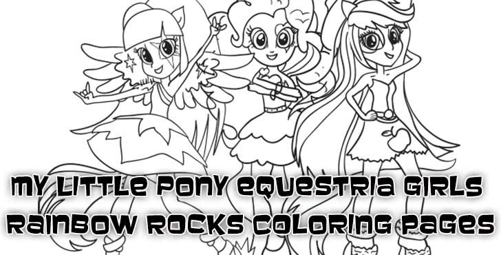 Rainbow Rock Coloring Pages  Coloring Pages of My Little Pony Equestria Girls Rainbow