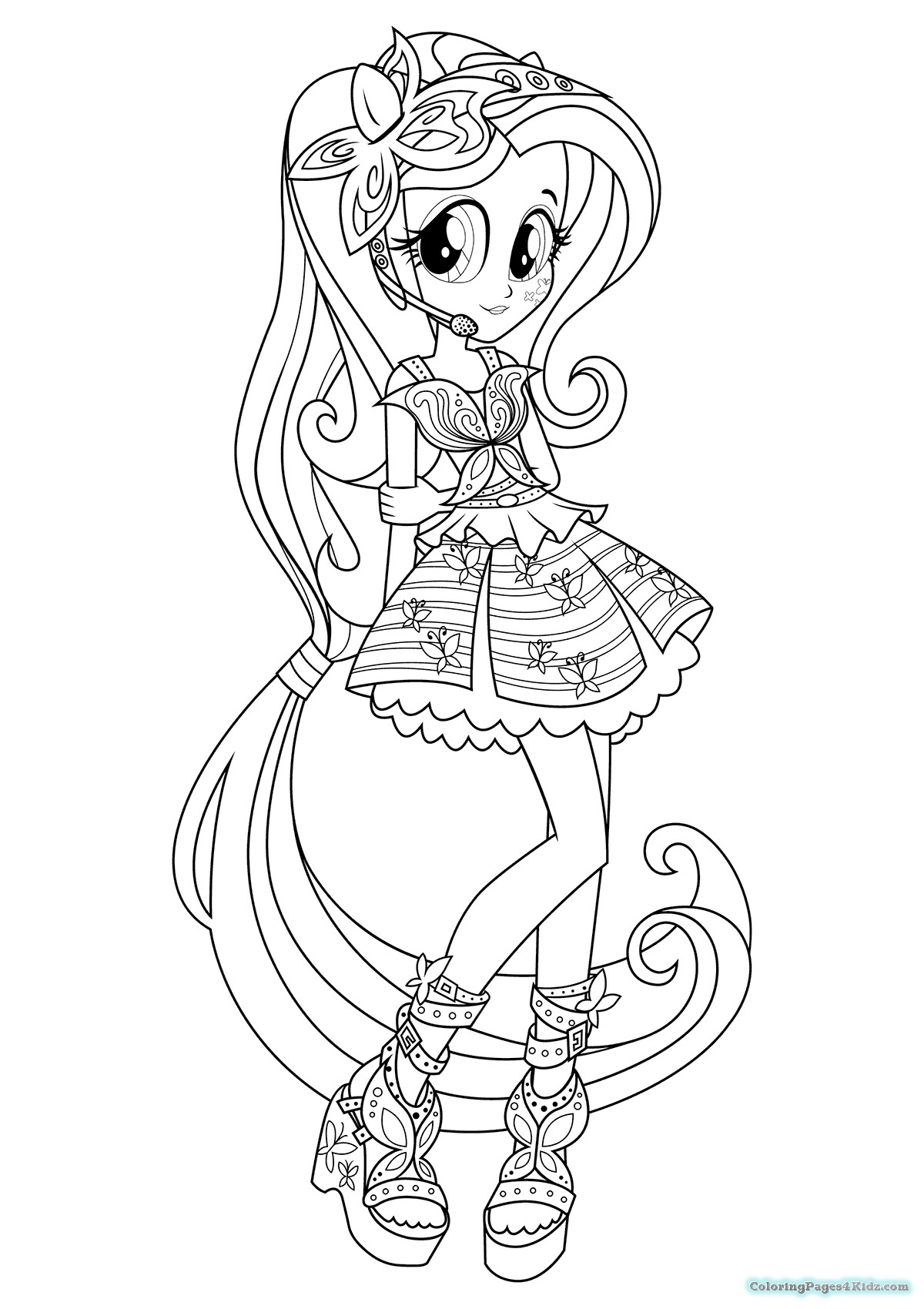 Rainbow Rock Coloring Pages  Equestria Girls Rainbow Rocks The Dazzlings Coloring Pages