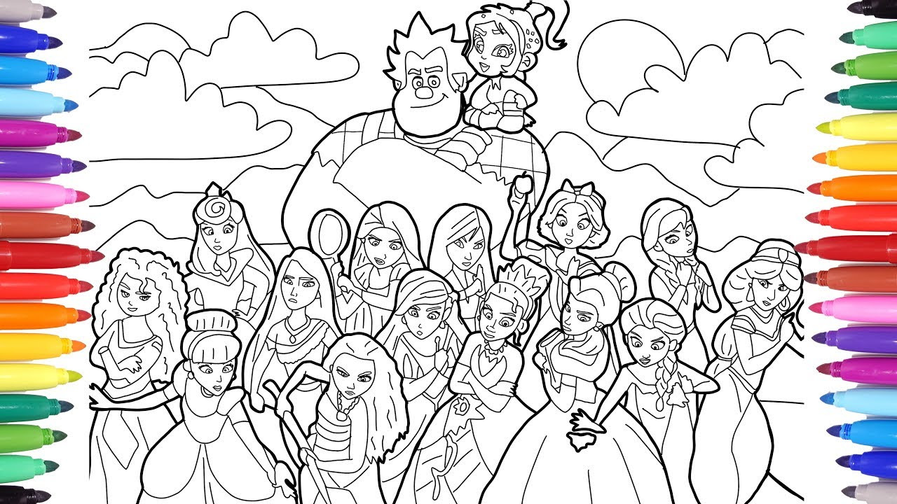 Ralph Breaks The Internet Coloring Pages  Ralph Breaks the Internet Wreck It Ralph 2 Coloring Pages
