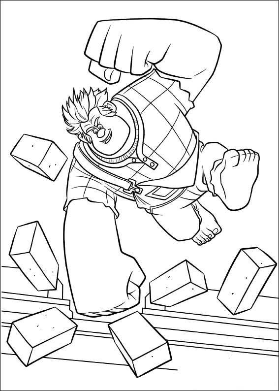 Ralph Breaks The Internet Coloring Pages  Kids n fun