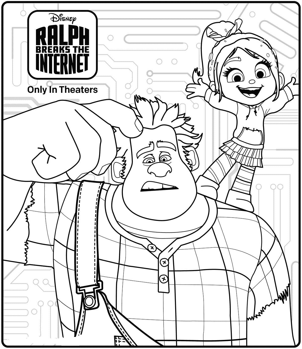 Ralph Breaks The Internet Coloring Pages  15 Free Ralph Breaks The Internet Coloring Pages Printable