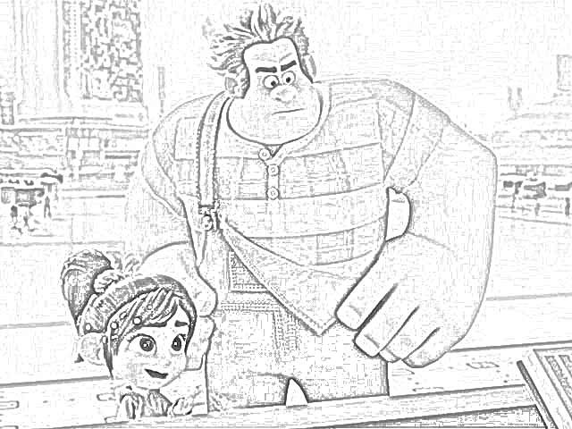 Ralph Breaks The Internet Coloring Pages  Coloring Pages Ralph Breaks the Internet Coloring Pages