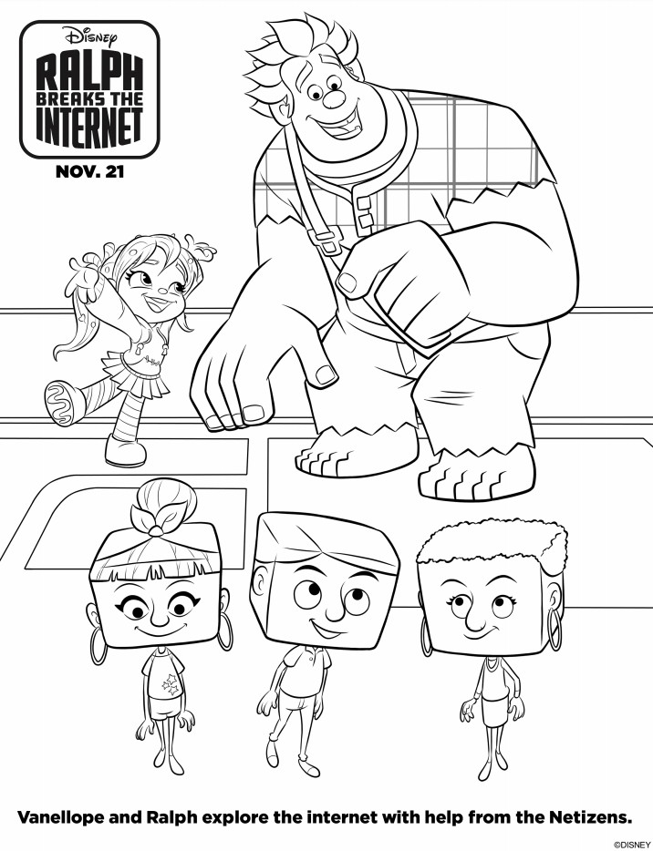 Ralph Breaks The Internet Coloring Pages  Free Ralph Breaks The Internet Printable Coloring Pages