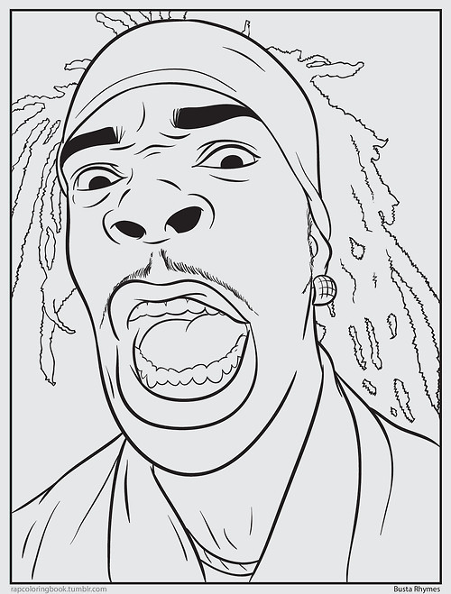 Rapper Coloring Pages  Beyazsepetim Psychology Rap Coloring Book