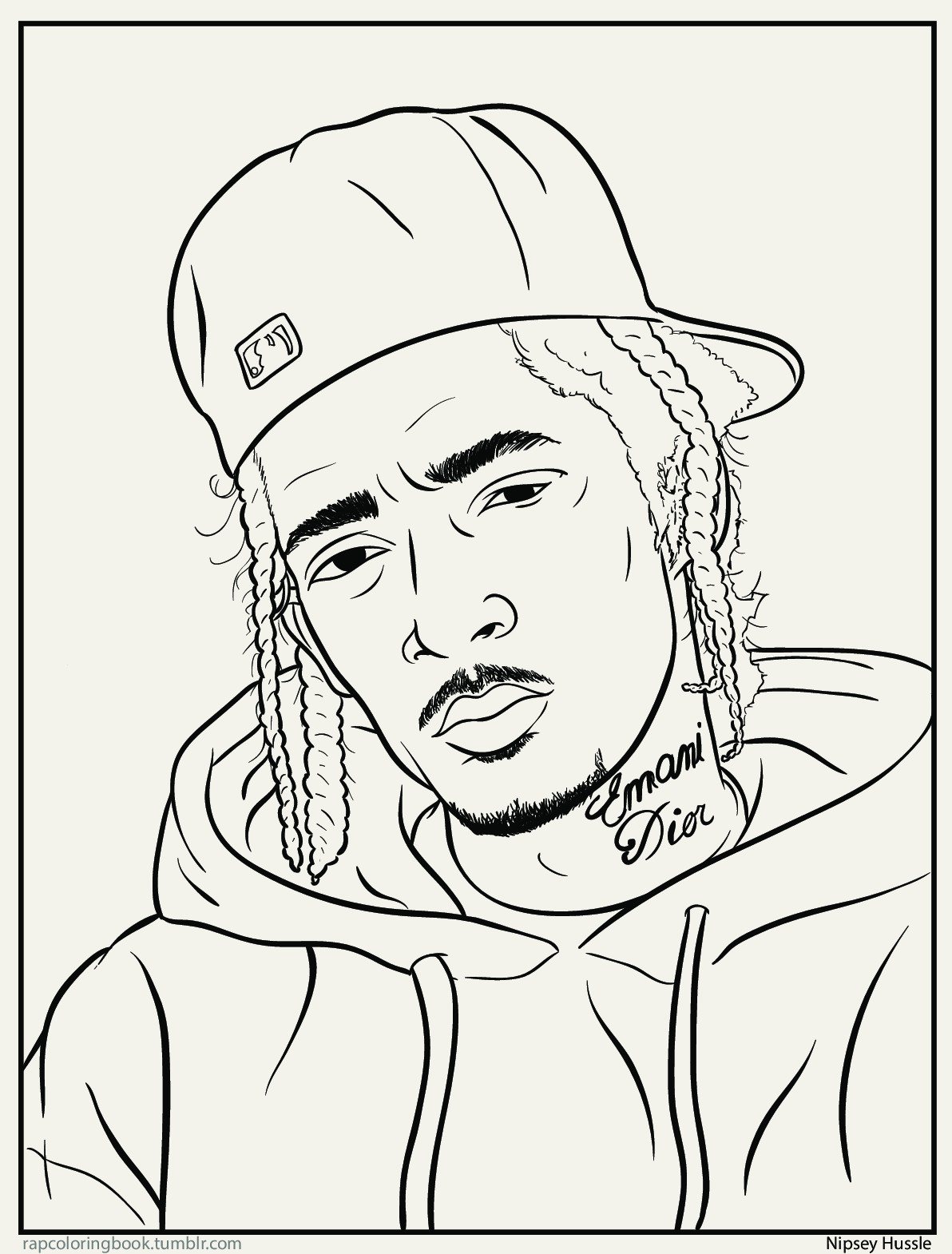 Rapper Coloring Pages  Bun B Rap Coloring Book Color It Bs And Activity Is In