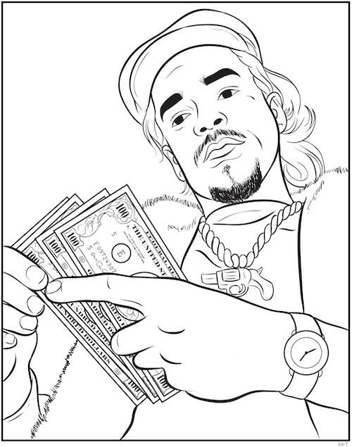 Rapper Coloring Pages  Rap Coloring Book An Interview With Creators Bun B & Shea