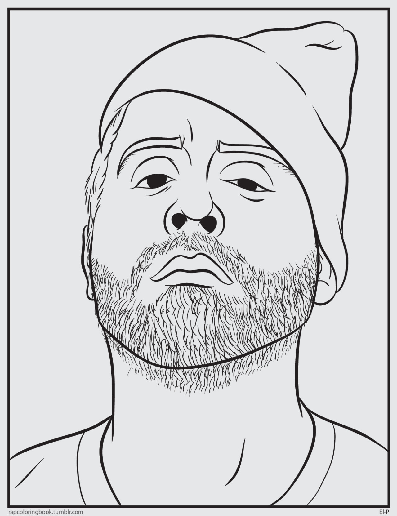 Rapper Coloring Pages  ABRAMS • rapcoloringbook here to the El P coloring