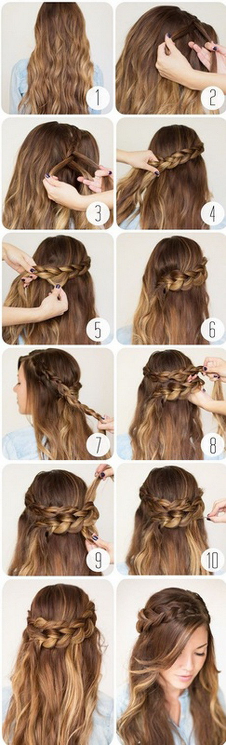 Best ideas about Really Easy Hairstyles . Save or Pin 10 easy hairstyles for school Now.