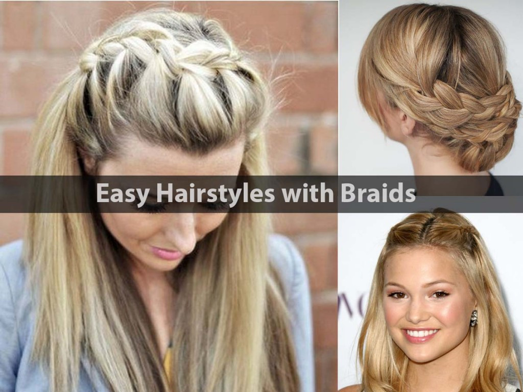 Best ideas about Really Easy Hairstyles . Save or Pin Easy Hairstyles with Stylish Braids Hairstyle For Women Now.