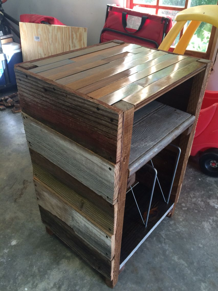 Best ideas about Record Player Stand DIY . Save or Pin Barnwood Record Player Stand and Vinyl Storage Now.