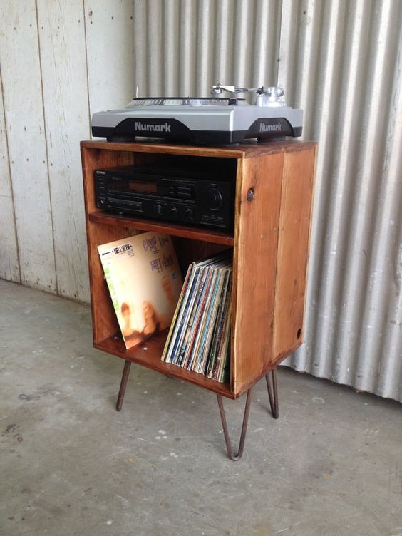 Best ideas about Record Player Stand DIY . Save or Pin Record cabinet Record player stand and Lp storage on Now.