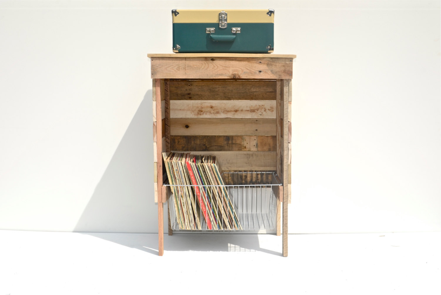 Best ideas about Record Player Stand DIY . Save or Pin Reserved for Ali Reclaimed Storage Record Player Stand Wire Now.