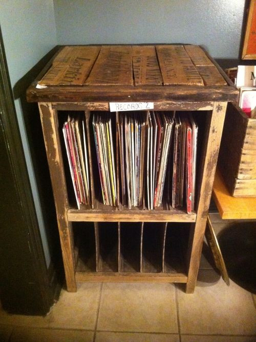 Best ideas about Record Player Stand DIY . Save or Pin Record player stand and vinyl storage cabinet Vintage Now.