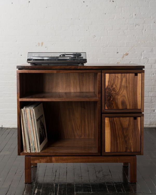 Best ideas about Record Player Stand DIY . Save or Pin Walnut Record Player Stand … Now.