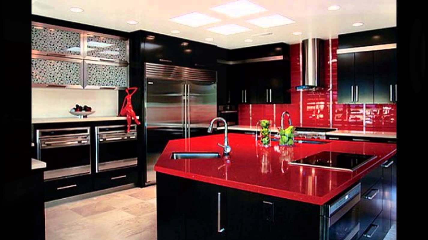 Best ideas about Red Black And White Kitchen Decor . Save or Pin White Black And Red Kitchen Design K C R Now.
