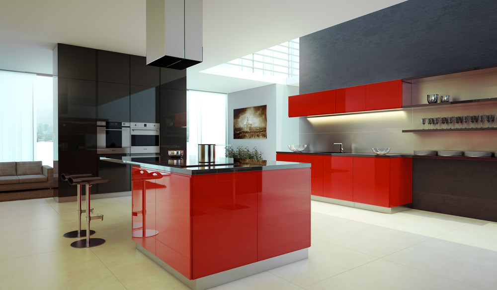 Best ideas about Red Black And White Kitchen Decor . Save or Pin black white and red kitchens 2017 Grasscloth Wallpaper Now.