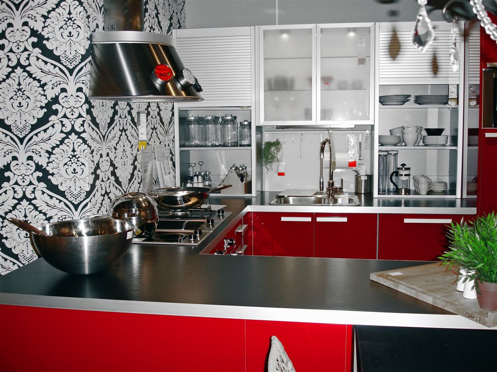 Best ideas about Red Black And White Kitchen Decor . Save or Pin Create Incredible Kitchen with Red Kitchen Cabinet Now.