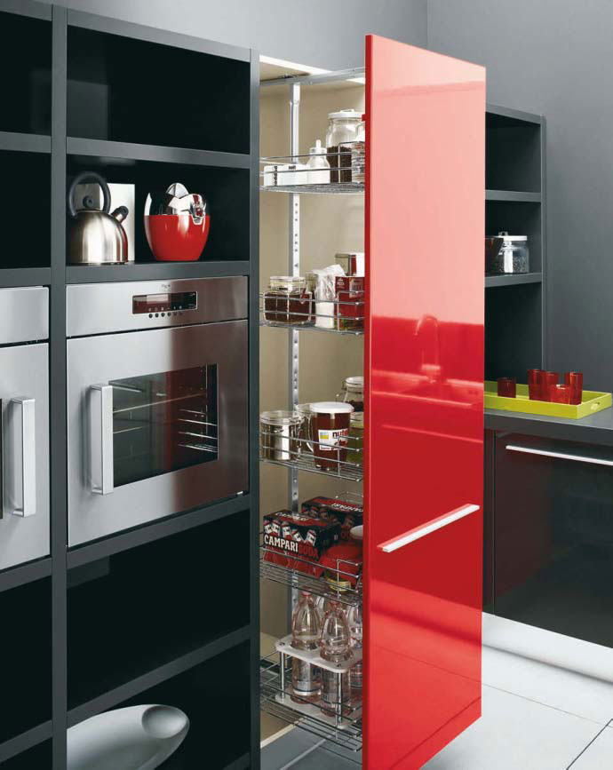 Best ideas about Red Black And White Kitchen Decor . Save or Pin White Black and Red Kitchen Design – Gio by Cesar Now.