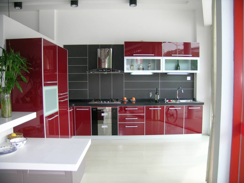 Best ideas about Red Black And White Kitchen Decor . Save or Pin Luxury Red White And Black Kitchen Tiles 9 Kitchen Now.