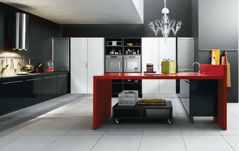 Best ideas about Red Black And White Kitchen Decor . Save or Pin Black And Red Kitchen Home Decorating Ideas Now.