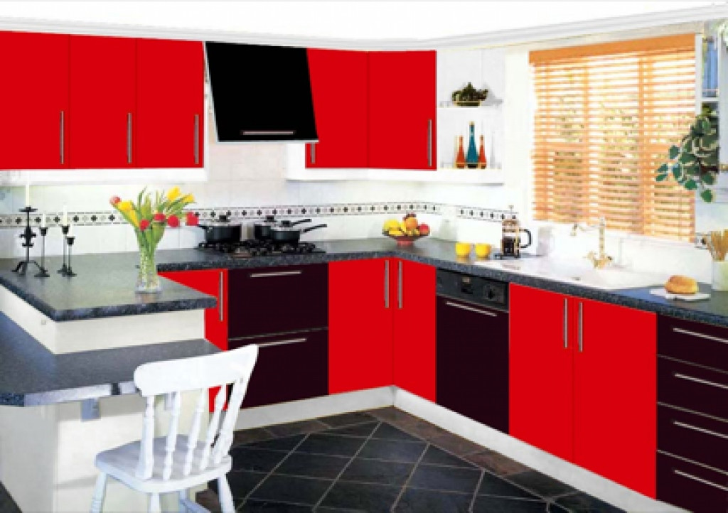 Best ideas about Red Black And White Kitchen Decor . Save or Pin Kitchen Black White And Red Kitchen Dark Red Kitchen Now.