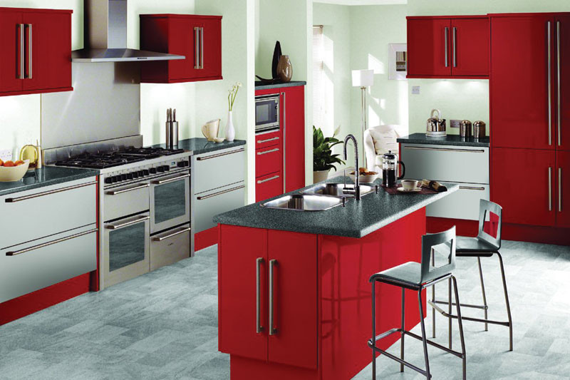 Best ideas about Red Black And White Kitchen Decor . Save or Pin Kitchen Design with Red Black and White Concept Now.