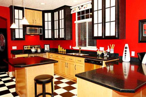 Best ideas about Red Black And White Kitchen Decor . Save or Pin Italian Small Kitchen Design Ideas Now.