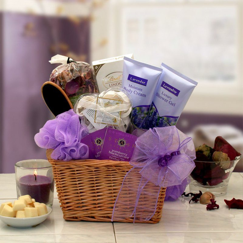 Best ideas about Relaxation Gift Basket Ideas . Save or Pin Lavender Relaxation Spa Gift Basket Holiday Gift Baskets Now.