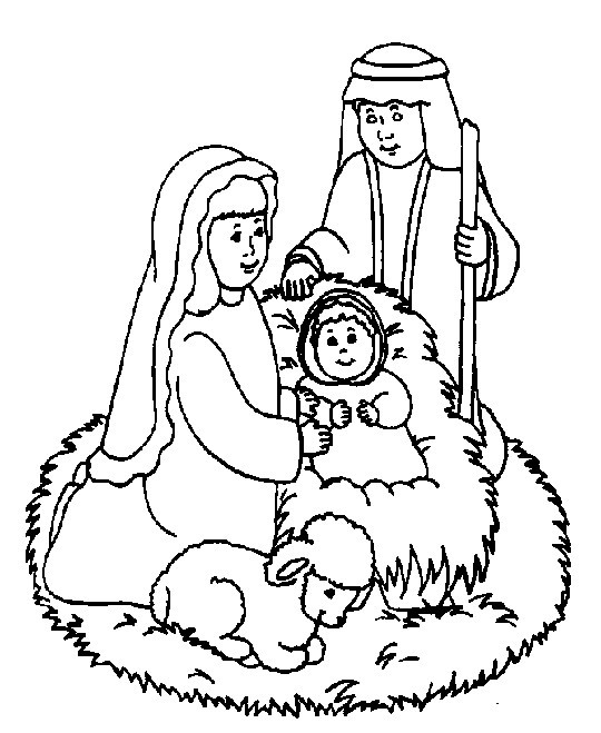 Religious Christmas Coloring Pages For Kids Printable  A Christian Christmas Christian Christmas Coloring Pages