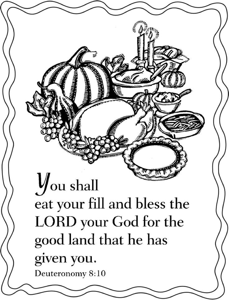 Religious Thanksgiving Coloring Pages For Kids  Christian Thanksgiving Printable Coloring Pages – Happy