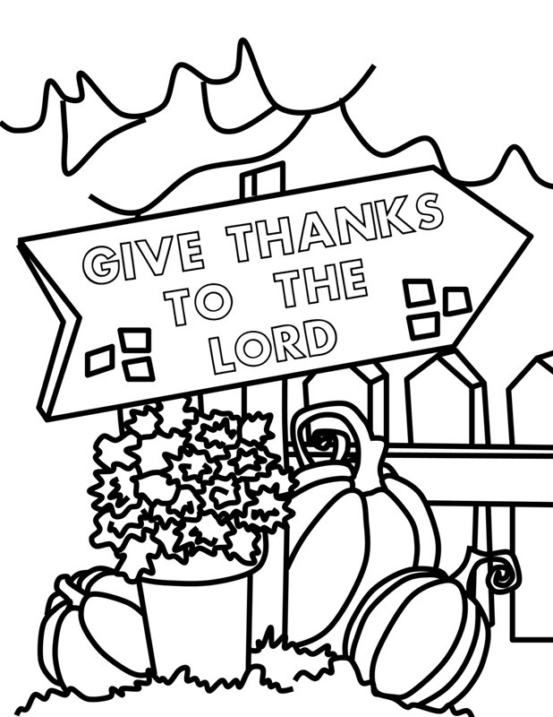 Religious Thanksgiving Coloring Pages For Kids  Happy Thanksgiving Coloring Pages For Kids