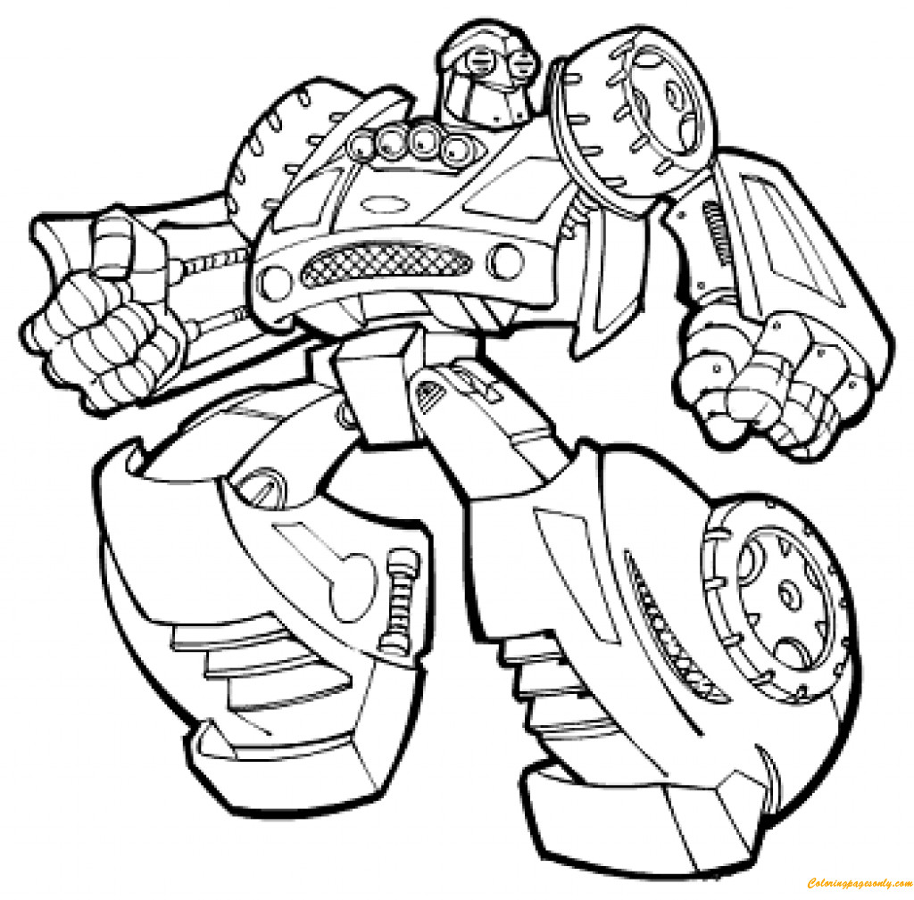 Rescue Bot Coloring Pages  Transformers Rescue Bots Coloring Page Free Coloring
