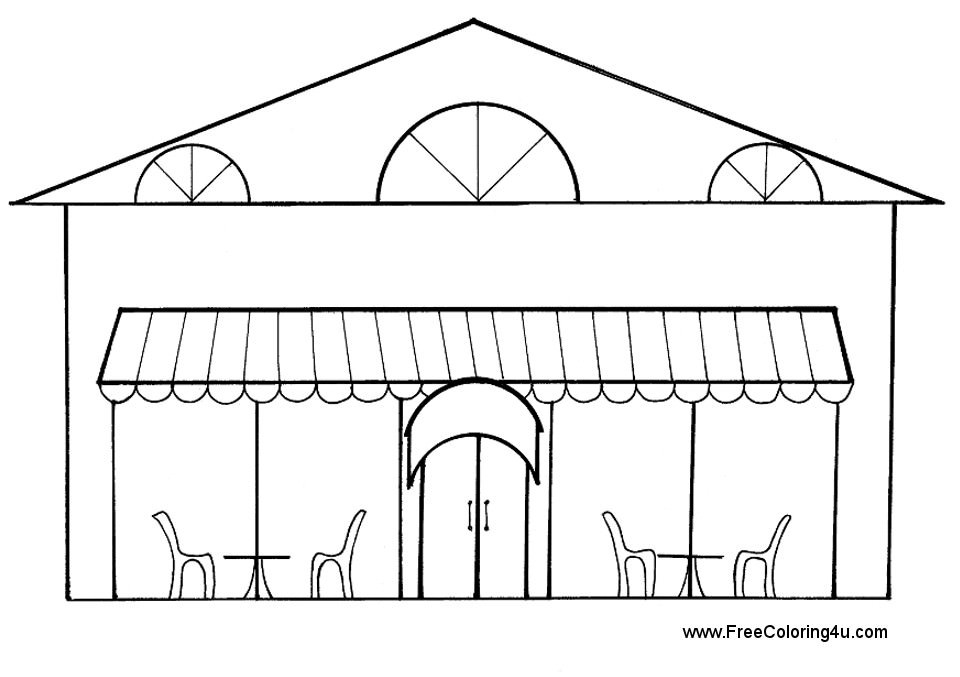 Restaurant Coloring Pages For Kids  Restaurant Coloring Sheets Free Coloring Sheets Coloring