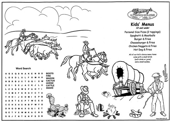 Restaurant Coloring Pages For Kids  Children s Menus