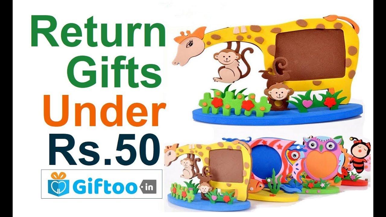 Return Gift Ideas For Birthday Party  Return Gifts Ideas Under Rs 50 for kids birthday party