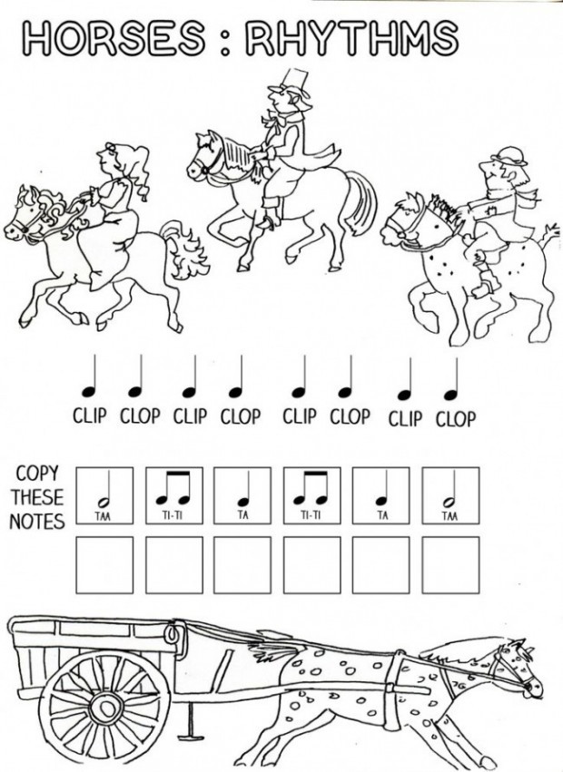 Rhythm Coloring Sheets For Kids  6 Best of Free Printable Music Worksheets Free