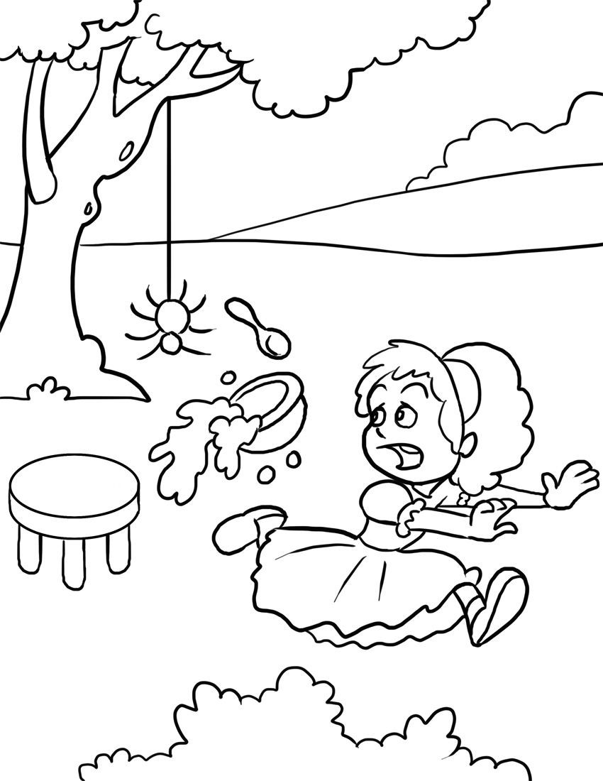 Rhythm Coloring Sheets For Kids  Little Miss Muffet
