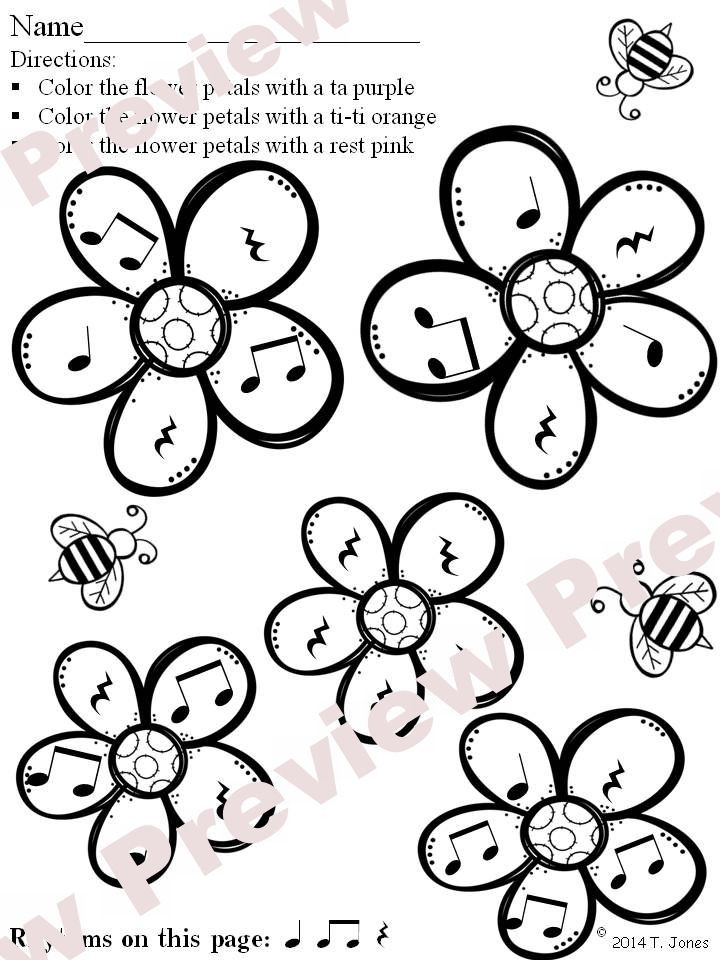 Rhythm Coloring Sheets For Kids  124 best images about Rhythm Concepts on Pinterest