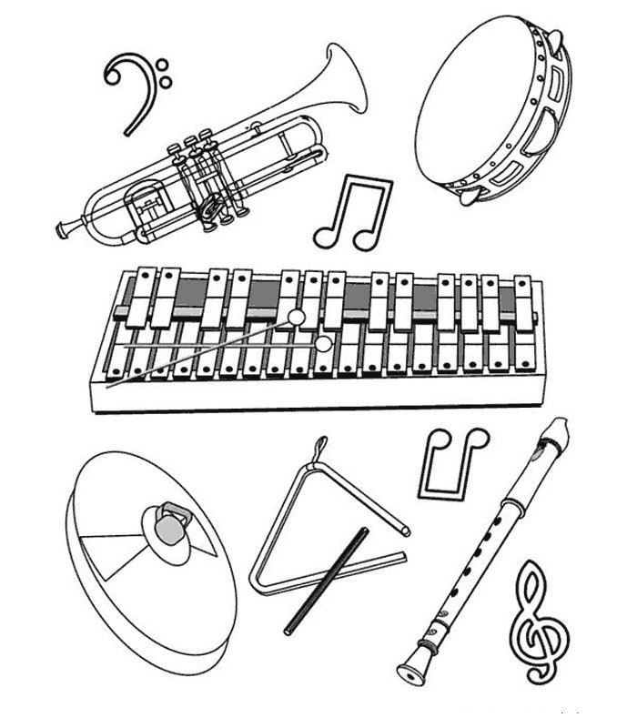 Rhythm Coloring Sheets For Kids  Rhythm Instrument Coloring Pages