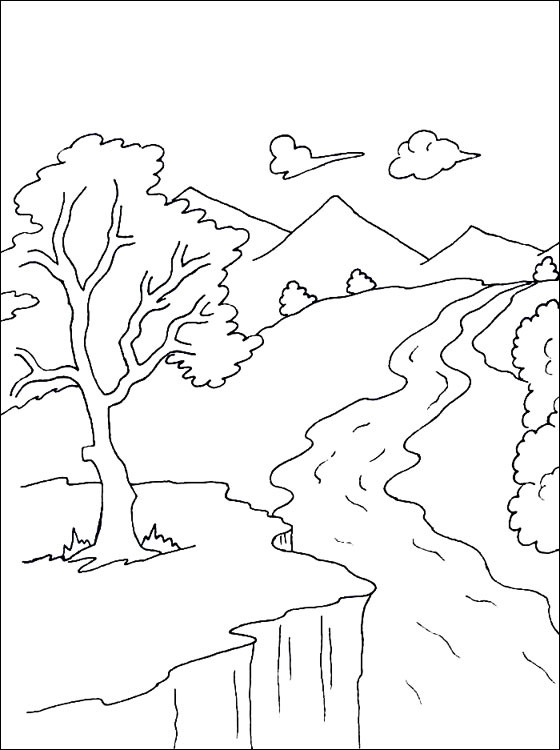 Best ideas about River Coloring Pages . Save or Pin Drawn river colouring page Pencil and in color drawn Now.
