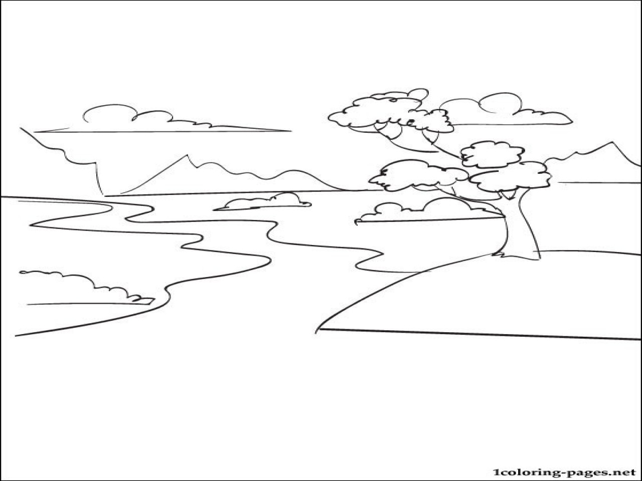 Best ideas about River Coloring Pages . Save or Pin Little Stream Coloring Page River Pages grig3 Now.